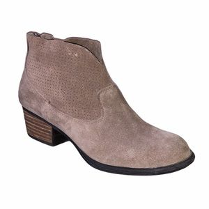 Jessica Simpson brown suede ankle booties size 6